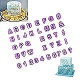 Heatigo Ausstechform Ausstecher 40 Teilig Fondant Ausstechform Buchstaben, Zahlen und Satzzeichen - Geeignet für Anfänger und Profis