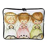 Little Angels Praying 17 Inch Protective Laptop Sleeve Ultrabook Notebook Carrying Case Compatible with MacBook Pro MacBook Air Tablet Briefcase Bag
