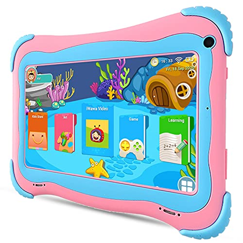 7 inch Kids Tablet Android 10 Toddler Tablet 32GB Dual Cameras Kids APP Preinstalled & Parent Control Kids Tablet WiFi Learning Tablet for Toddlers, YouTube Netflix Google Play Store