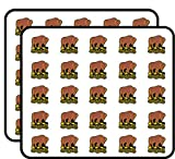 Buffalo Soldiers Ready and Forward Logo Shaped (Army Black Infantry) Sticker for Scrapbooking, Calendars, Arts, Kids DIY Crafts, Album, Bullet Journals