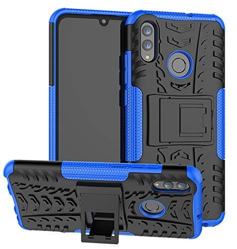 Yiakeng Huawei P Smart 2019 Cover, P Smart 2019 Plus Cover, Honor 10 Lite Cover, Doppio Strato Silicone Antiurto Far Cadere Protezione con Kickstand Custodia (Blu)