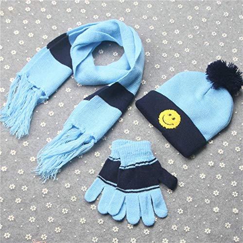 AGS Lot de 3 paires de gants pour écharpes et gants d'hiver Blue Smile