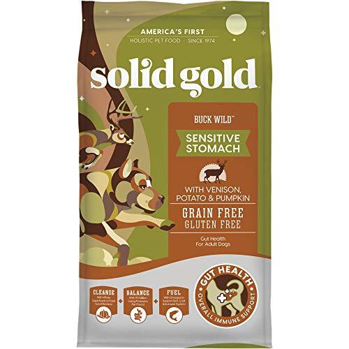 Solid Gold Grain-Free Dry Dog Food; Buck Wild (Venison), Sun Dancer (Chicken), Sunday Sunrise (Lamb) & Wild Heart (Quail)