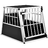 Sam´s Pet Aluminium Hundetransportbox Größe L-X schwarz/Silber | Alu Auto Transportbox Hunde | Hundebox für Pkw Kofferraum