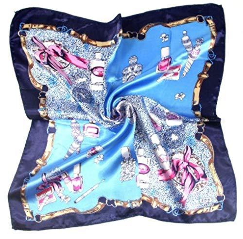 SJYM Moda Mujer Pañuelo de Cabeza Cuadrada Wraps Pañuelos Señoras Impreso Pañuelo Cuello Hermoso Bufanda Chal Cómodo, X-32
