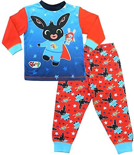Boys CBeebies Bing Pyjamas Bing and Hoppity PJs Red Blue (2-3 Years)