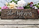 Personalized Family Name Sign. Custom Wood Sign. Personalized Wedding Gift. Personalized Sign. Last Name Sign Established Sign. Wedding Gift. Bridal Shower Gift. Anniversary Gift