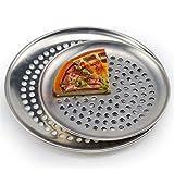 YWSZY El Acero Inoxidable Moldes For Pizza con Agujeros Herramientas De Pizza Antiadherente Pizza Redonda Bandeja De Horno De Panadería Placa Horno Exterior De Malla De Red Metálica
