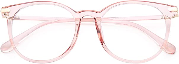 Gaoye Blue Light Blocking Glasses, Stylish Retro Round Frame Anti UV Ray Computer Gaming Eyeglasses Women Men - GY1688