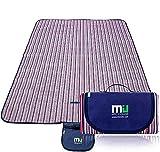 MIU COLOR Large Waterproof Outdoor Picnic Blanket, Sandproof and Waterproof Picnic Blanket Tote for...