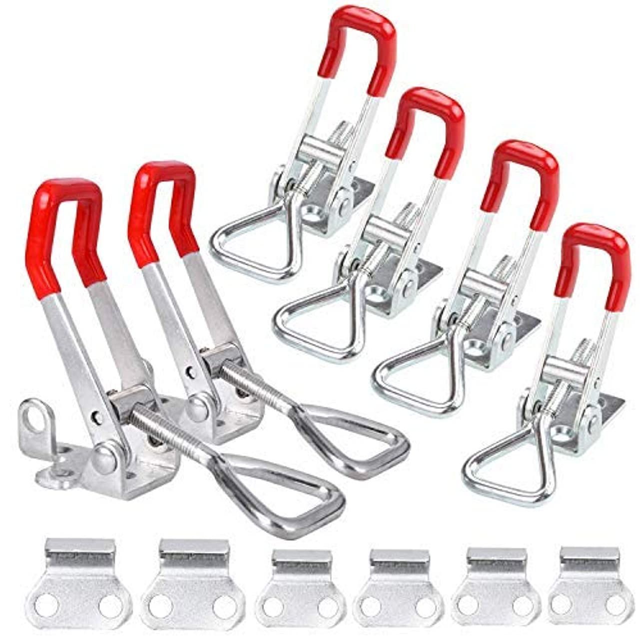 頑張るフェミニン暗殺するCBTONE Toggle Clamp 4001 and Pull Action Latch Type Toggle Clamp, Heavy Duty Adjustable Hand Tool Quick Release Pull Latch for Door, Tool Boxes, Trunk, Jig (6 Pack) [並行輸入品]