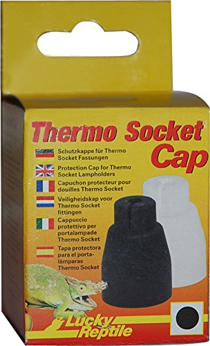 Lucky Reptile TS-C Thermo Socket Cap, schwarz/weiß