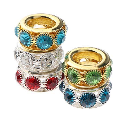 joyMerit 5x Dreadlock Antiguo Diamante de Imitación Perlas de Trenzado de Pelo Joyería Fabricación de Collares