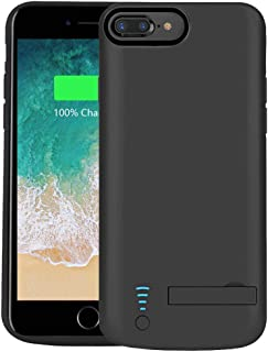 RUNSY Battery Case Compatible with iPhone 8 Plus / 7 Plus / 6S Plus / 6 Plus, 8000mAh Rechargeable Extended Battery Charging/Charger Case, Adds 2X Extra Juice, Supports Wired Headphones (5.5 inch)