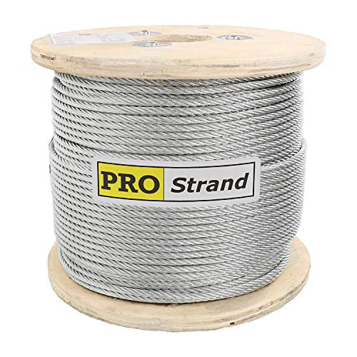 "Pro Strand 3/16"" X 1000', 7x19, Galvanized Cable Reel"