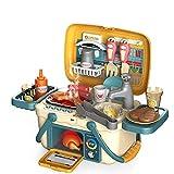 YQZ Tragbares simuliertes Küchenspielzeug für Kinder, Picknickkorb mit Musik und Licht,...