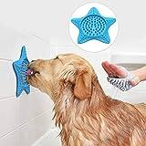 AOMOSA Alfombrilla de baño para lamer perros, manteca de maní con potentes succiones a la pared, alfombrilla para lamer el baño de mascotas, aseo y entrenamiento de perros