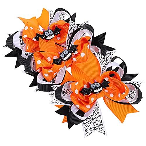 minkissy Horquillas para El Pelo de Halloween 3 Piezas con Diseño de Murciélagos Pasador para Fiesta de Halloween Cosplay Accesorios para El Cabello