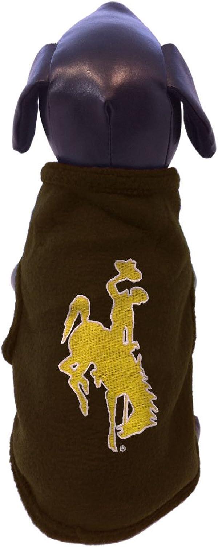 NCAA Wyoming Cowboys Sleeveless Polar Fleece Dog Sweatshirt