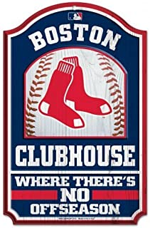 Wincraft Official Major League Baseball Fan Shop Authentic MLB Fan Cave Man Cave Premium Wooden Clubhouse Sign