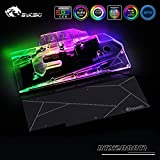 GPU Copper Water Cooling Block for NVIDIA GeForce RTX 2080Ti/2080 Founders/Reference Edition 5V 3PIN RGB Remote Control Back Plate (RTX2080 Layout)