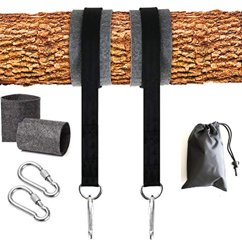 kengb Boomschommel, opknoping riemen met 5ft extra lange schommel opknoping riem, Hangmat riemen Kit met Safer Lock Snap Karabijnhaak haken, Perfect voor Boom Swing & Hangmatten