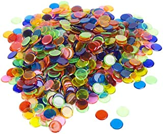 colored plastic bingo chips