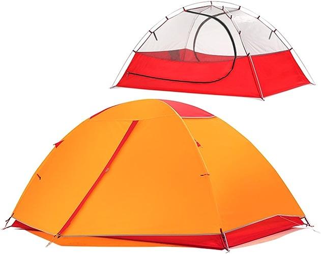 ZP Tente, Tente extérieure Prévention Prévention Ultralight Hand Ride Tige en Aluminium Individuel 2 Personnes Camping huwaizhangpeng (Couleur   Orange, Taille   1)