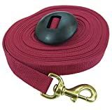 Intrepid International Lunge Line with Rubber Stopper, Red, 25-Feet