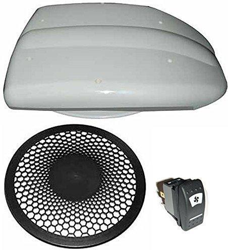 Preisvergleich Produktbild Low profile transporter dach-entlüftung - Motorisiert ventilator für Van-bus pferdebox hund Transporter