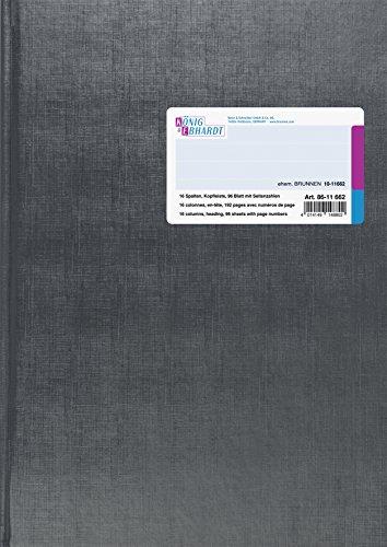 König & Ebhardt 8611662-7116P96KL (Spaltenbuch Deckenband, A4, 16 Spalten, 96 Blatt)