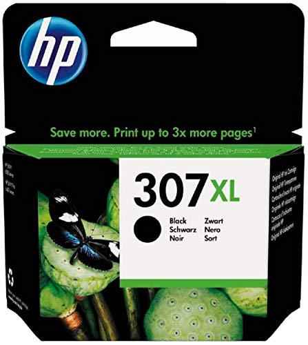 HP 307XL 3YM64AE, cartuccia originale, da 400 pagine, ad alta capacità, per stampanti a getto di Inchiostro HP ENVY serie 6020, 6030, HP Envy Pro 6420 e 6430, Nero