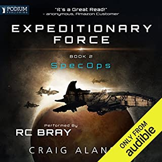 SpecOps     Expeditionary Force, Book 2              Written by:                                                                                                                                 Craig Alanson                               Narrated by:                                                                                                                                 R.C. Bray                      Length: 15 hrs and 50 mins     274 ratings     Overall 4.7