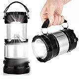 EEEKit linterna solar de campamento, 2 en 1, linterna de mano recargable, linterna LED plegable para equipo de camping para senderismo, camping, emergencias, huracanes, excursiones