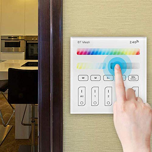 GEYUEYA Home Smart Panel LED Controller 2.4G Wireless WiFi Smart-Panel-Controller für 4-Zonen Smart Panel LED-Controller RGBW RGBWC + CCT 3V Touch-Schalter Dimmer