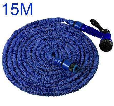 XiaoOu 15-30M Manguera mágica de jardín expansible Tubería de Agua telescópica riego por riego Spray Car Wash Plastic Plastic Gun Cleaning Tools, 15M