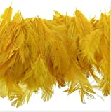 Stylewell Natural Dyed Yellow Multi-Purpose Craft Feathers (Approximately 80pc) for Dream Catcher Artificial Jewelry Making Art & Craftworks s DIY Hobby Crafts Kids Projectworks Scrapbooking