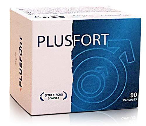 PLUSFORT Pillen für Männer | Liebe, Lust + Sperma + Extrem Testosteron Booster | Ultra Starke Pflanzenextrakte - 90 Kapseln