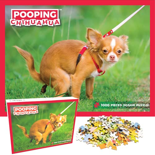 Pooping Chihuahua Puzzle 1000 Pieces Adult Gag - Pranks for Adults Funny Puzzle for Dog Lovers & Owners. Poop Jigsaw Prank Puzzle Adult & Family Friendly Activity