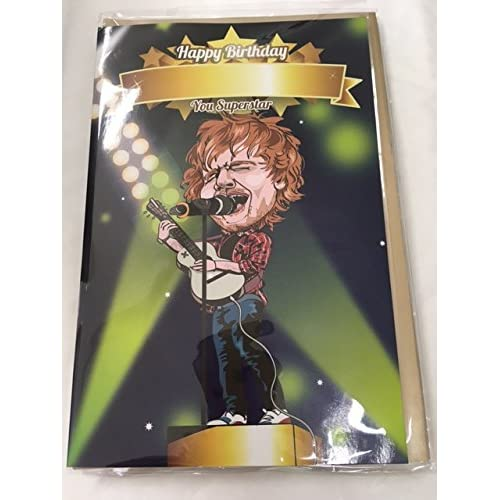 Personalised Singing Birthday Card In Ed Sheeran Style Personalise For Any Name