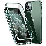 MIMGOAL Funda para iPhone 11 Pro MAX, Carcasa Adsorción Magnética Funda con Protector de Cámara Protección de 360 Grados Transparente Case for Apple iPhone 11 Pro MAX 6,5'', Verde Noche