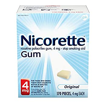 Nicorette 4 mg Nicotine Gum to Quit Smoking Unflavored Stop Smoking Aid Original 170 Count  Pack of 1