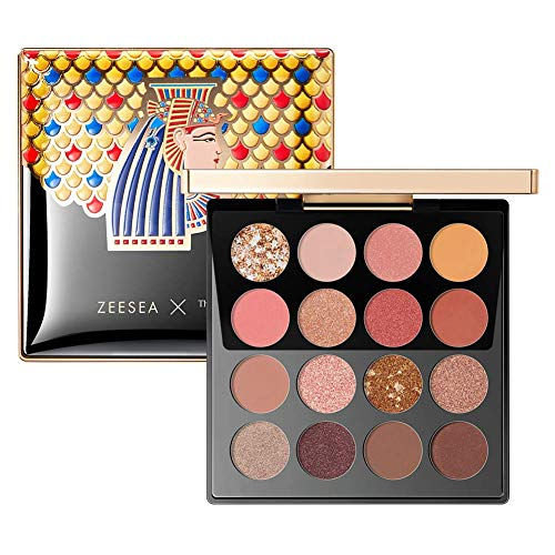 ZEESEA The British Museum Egypt Collection Eyeshadow Shimmer Matte Glitter (#03 CLEOPATRA) 16 Colors Eyeshadow Palette