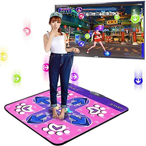 Luckylj Tanzmatte Tanzunterlage rutschfeste Tanzunterlagen Für PC-TV-AV-Videospiele, Familienspiele, Kinder-Partyspiele Für Erwachsene,Rosa,512M