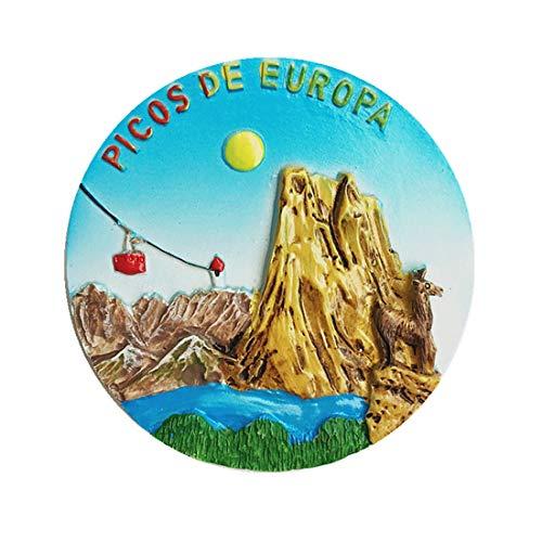 Mount Europa (Picos de Europa) Asturias España imán 3D para nevera recuerdo de regalo hogar y cocina, imán para nevera de España