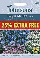 【輸入種子】 Johnsons Seeds Forget Me Not Mixed 25% EXTRA FREE フォーゲット・ミー・ノット(わすれな草)25% EXTRA FREE(25%増量) ジョンソンズシード
