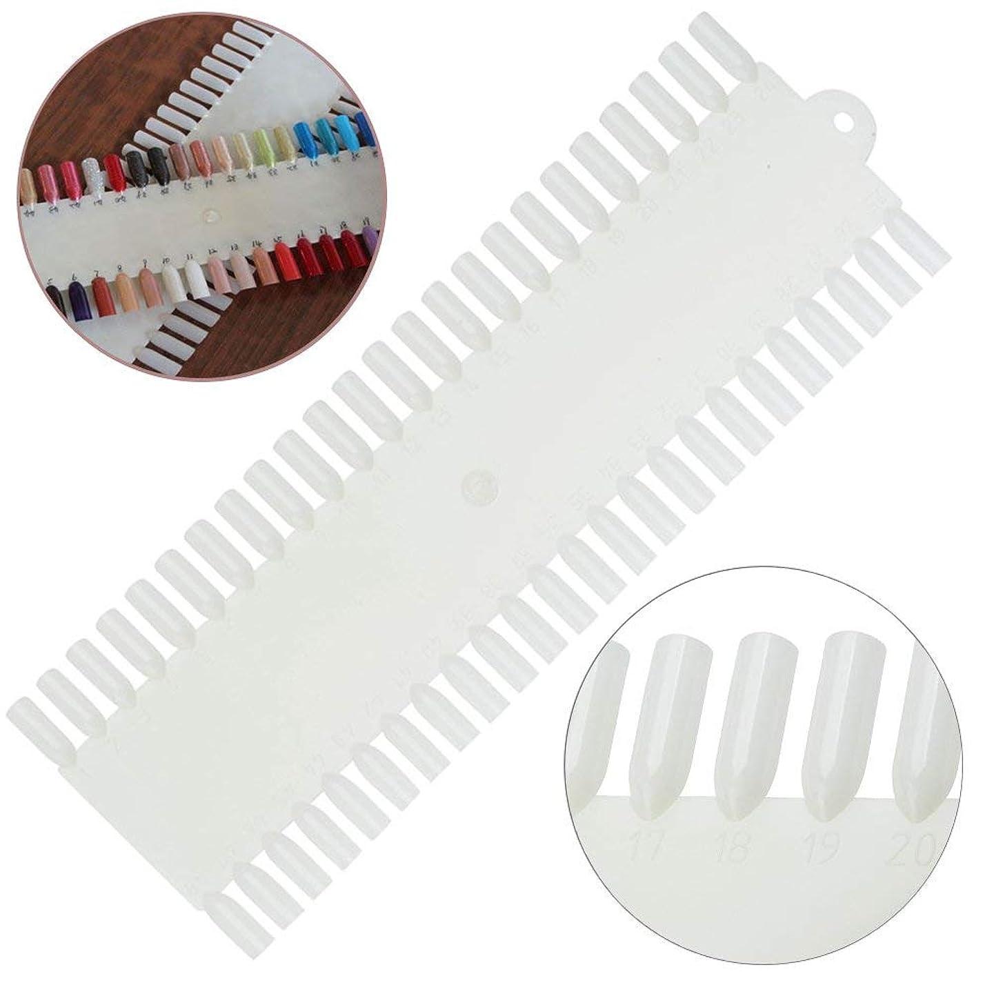 罰する砂うるさい白の48の偽の釘/プラスチックヒント/表示および練習板が付いている良質の専門のネイルアートパレット