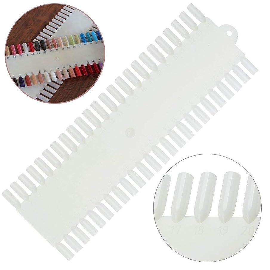 思春期木材ブロックする白の48の偽の釘/プラスチックヒント/表示および練習板が付いている良質の専門のネイルアートパレット