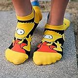 Theresa Niedliche Socken mit Simpsons-Motiv, Baumwolle, 3D-Cartoon-Socken Einheitsgröße H01