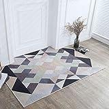 Las alfombras de área Alfombras de patrón geométrico simple nórdico Alfombras for sala de estar Alfombras de área de dormitorio Sofá blanco gris Mesa Silla Alfombrillas antideslizantes HP12-2